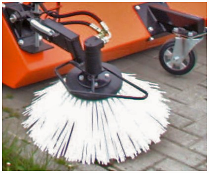 Much of the debris on a site gets trapped on fence lines and kerb edges. the gulley brush enables these edges to be swept providing a crisp edge to your maintenance