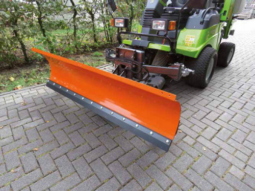 Kersten Snow Plough fitted to the Grillo 13.09 mower